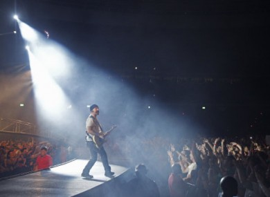 The Edge on stage in South Africa