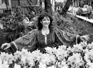 Undated picture of Kate Bush in London.
