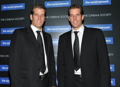 Cameron and Tyler Winklevoss attend a special screening of The Social Network, a movie about their legal battle with Facebook founder Mark Zuckerberg.