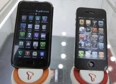 Samsung's Galaxy S smartphone (left): Apple has accused Samsung of copying the