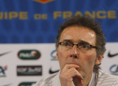 French national soccer coach Laurent Blanc.