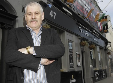John Stokes outside his pub in Fairview near Dublin city centre last month.