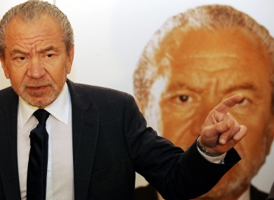 UK boss of The Apprentice Sir Alan Sugar