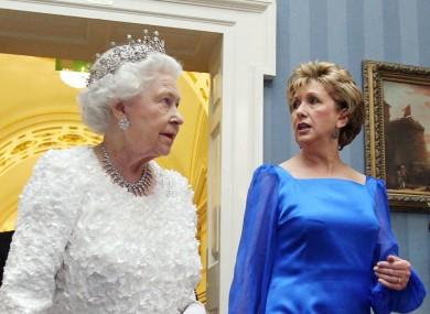 Queen Elizabeth of the United Kingdom and President Mary McAleese of Ireland, during the former's visit to the Republic last month.