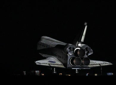 Endeavour lands after her final flight at the Kennedy Space Center in Florida this morning.