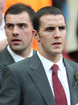 Ireland's Manchester United duo Darron Gibson and John O'Shea.