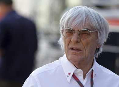 Ecclestone is the current president and CEO of Formula One Management.