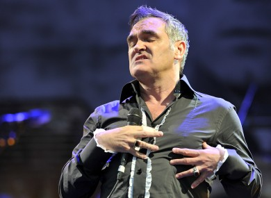 Morrissey on stage at Glastonbury last month