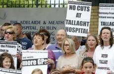 Protest at Tallaght hospital in solidarity with staff