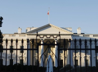 The White House pictured this morning.