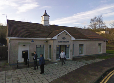 The Bank of Ireland branch in Glanmire, where this morning's attempted raid occurred.