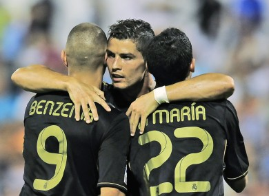 Cristiano Ronaldo scored a hat-trick as Real Madrid got off to a winning start in La Liga.