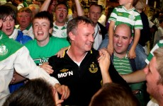In pictures: Rovers mobbed on arrival in Dublin