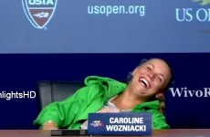 Caroline Wozniacki mocked Rafael Nadal's post-match cramps last night