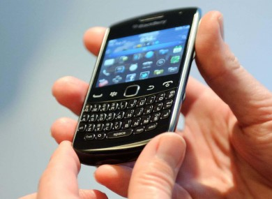 A BlackBerry handset