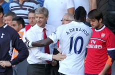 Spurs' win overshadowed by Adebayor, Wenger abuse