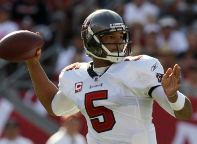 Tampa Bay's Josh Freeman picks out a pass during last week's clash with the New Orleans Saints.