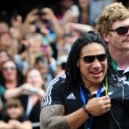 Ma'a Nonu shows off his gold medal.