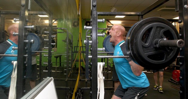 In pictures: Ireland's rugby stars hit the weights