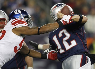 The Patriots suffered a setback against the Giants recently.