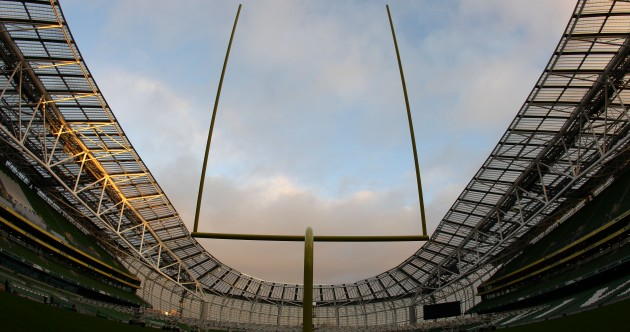 In pictures: Lansdowne Road tests out American Football posts ahead of gridiron date