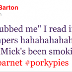 Joey Barton imparts his dubious political wisdom to the masses.