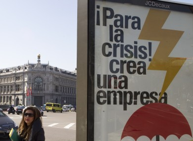A billboard in Spain reads: