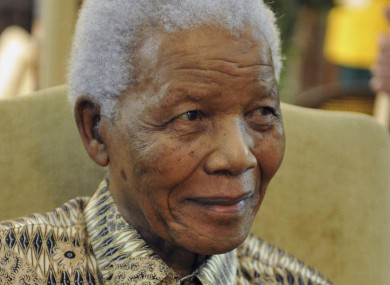 Mandela pictured in May this year
