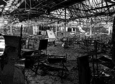 File photo dated 14/2/1981 of the scene of a fire at the Stardust nightclub where 48 people died.