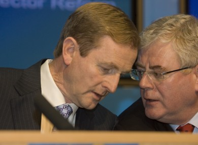 Taoiseach Enda Kenny and Tánaiste Eamon Gilmore