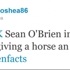 Sean O'Brien emerged as one of the stars of the Rugby World Cup, gaining much recognition on Twitter in the process.