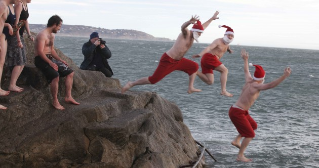 In pictures: Taking the plunge at Sandycove's Christmas swim