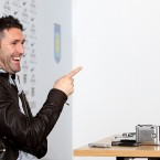Robbie Keane is in relaxed mood at the press conference to announce his loan move to Aston Villa on Thursday.