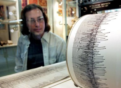File photo of a seismometer catching details of the massive Indonesian earthquake in March, 2005.