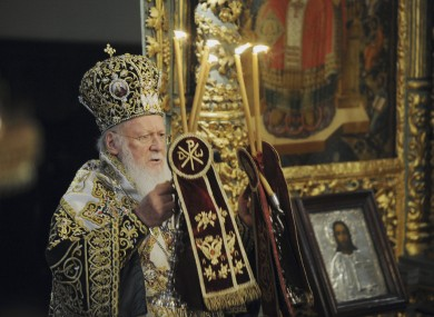 Bartholomew I, the spiritual leader of the world's Orthodox Christians, leading a ceremony in Istanbul last month.