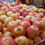 The Chinese will say it with... apples... this Valentine's weekend - the Chinese characters on the fruit mean