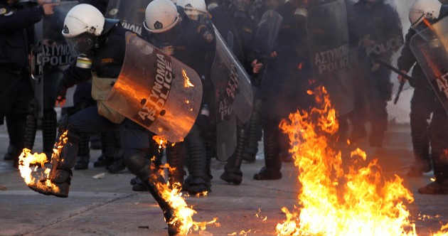 Major riots in Athens as Greek parliament approves austerity deal