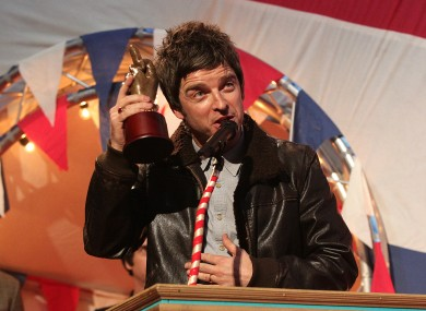 Noel Gallagher accepting his award