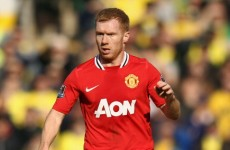 Scholes' return shows United are weak, says Vieira