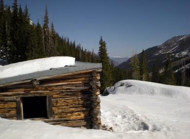 The cabin near Aspen in Colorado where as many as six cows froze to death.