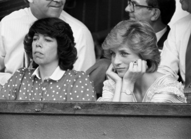 We're not sure what day this was in 1986 at Wimbledon for Princess Di but she looks very, very bored.