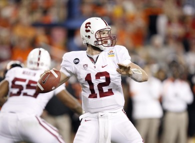 Stanford quarterback Andrew Luck will be the first overall pick of the 2012 NFL Draft.