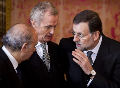 Spanish prime minister Mariano Rajoy (right) saw poor demand for a new government bond auction this morning.