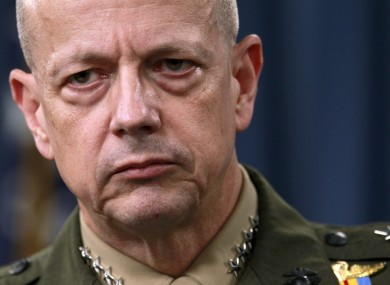 Marine Gen. John Allen, the top US commander in Afghanistan