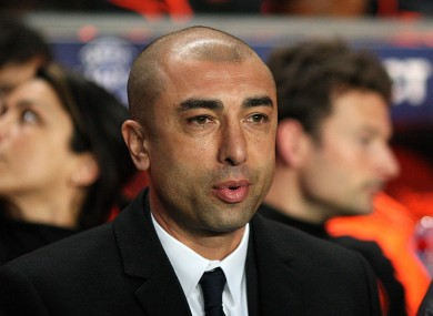 Chelsea manager Roberto Di Matteo: focused.