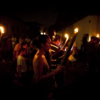 Hundreds of faithful participate in a Good Friday procession in Paraty, Rio de Janeiro, Brazil (AP Photo/Victor R. Caivano)