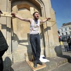 The final scene of the Devizes Passion play organized by the Devizes Church Community in Wiltshire (Tim Ireland/PA Wire)