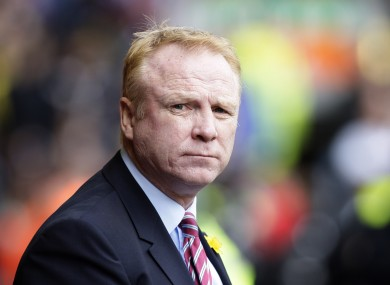 Alex McLeish's side are in desperate need of a victory.