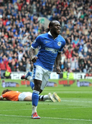 Victor Moses strikes for Wigan as they run rampant