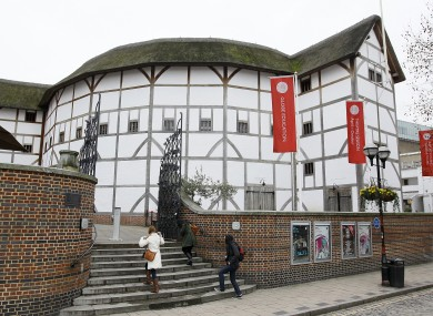 Shakespeare's Globe theatre, seen on the south bank of the River Thames in London